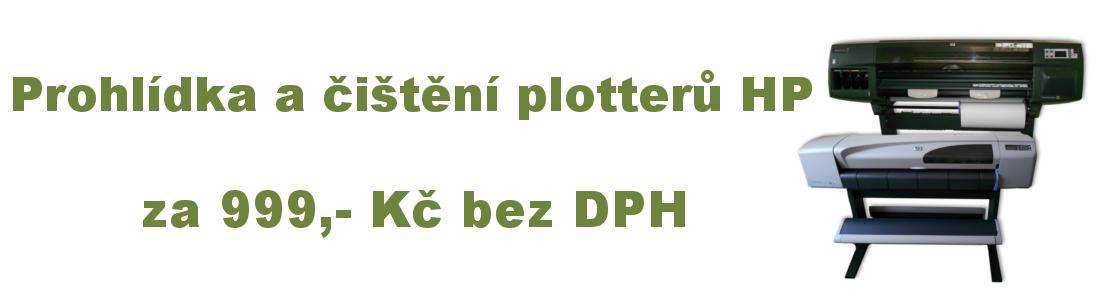 Akční servis plotterů HP